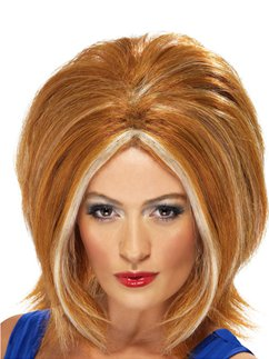 90's Ginger Power Wig - Auburn