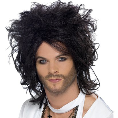 Sex God - Russell Brand - Black Wig front