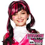 Child's Monster High Draculaura Wig - Black