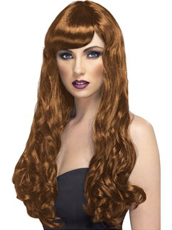 Desire Long Curly Wig - Brown