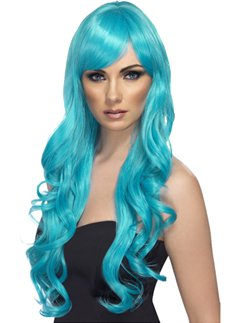 Desire Long Curly Wig - Aqua