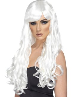 White Desire Long Curly Wig