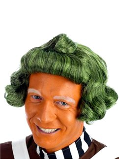 Factory Worker Green Wig