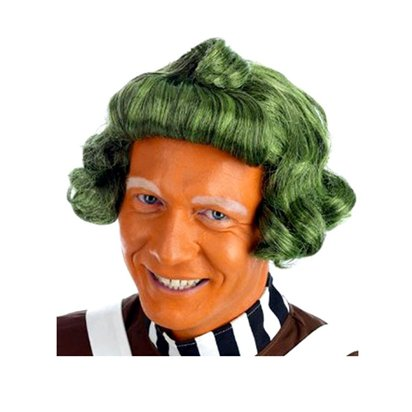 Factory Worker Wig - Green - Adults Fancy Dress Wigs pla