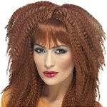 80's Brown Crimped Wig