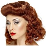 40s Auburn Pin Up Girl Wig