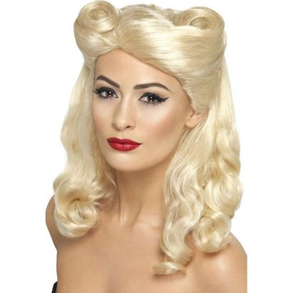 40's Pin Up Girl  - Blonde Wig front