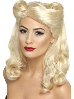 40's Pin Up Girl Wig - Blonde
