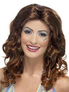 70's Dancing Queen Wig - Brown