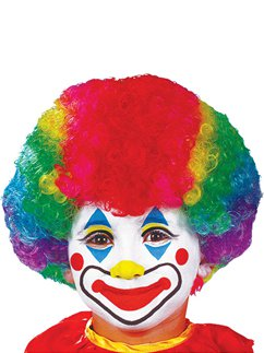 Child's Clown Wig - Rainbow