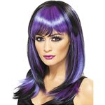 Witch Glamour Halloween Wig - Purple
