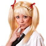 School Girl Pigtail Wig - Blonde