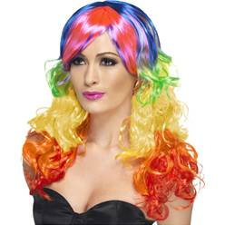 Curly Wig - Rainbow