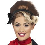 50's Beehive Wig - Brown & Blo