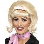 50s Blonde Flicked Beehive Bob Wig
