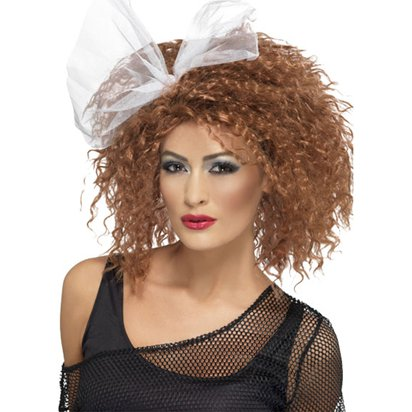 Madonna Wild Child - Brown 80's Wig - Women's Fancy Dress Accessories front