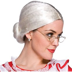 Mrs. Claus Wig - White