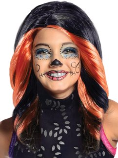 Child's Monster High Skelita Wig