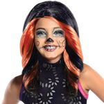 Child's Monster High Skelita - Black Wig