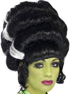 Pin Up Frankie Halloween Wig - Black