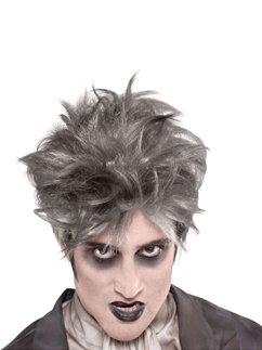From the Crypt Halloween Wig - Grey