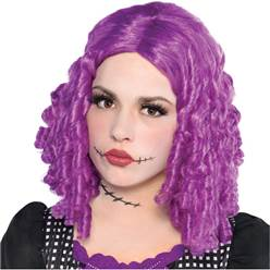 Damaged Doll Halloween Wig - Purple