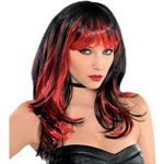 Enchantress Halloween Wig - Black & Red