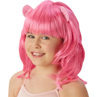 Pinkie Pie Pink Wig - My Little Pony Wig front