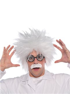 Mad Scientist Kit - Wig, Glasses & Tash