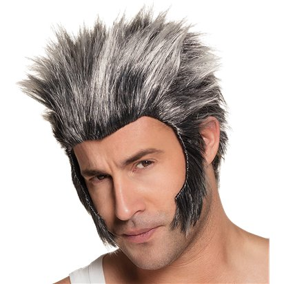 Werewolf Wig - Men's Wolverine Wig - Halloween Fancy Dress Accessories front
