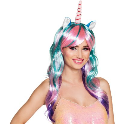 Daydream Unicorn Wig - Women's Unicorn Fancy Dress Accessories - Adults Size front