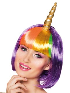 Nightglow Unicorn Wig with Horn
