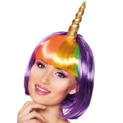 Unicorn Nightglow Wig with Horn