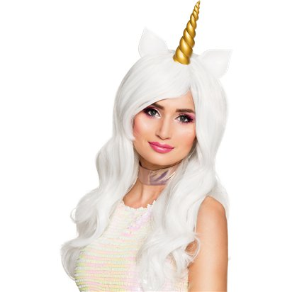 Sunshine Unicorn Wig - Women's Unicorn Fancy Dress Accessories - Adults Size front