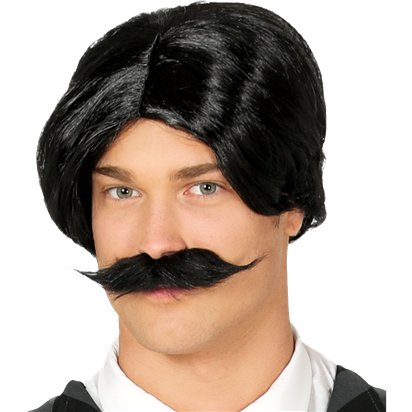 Mister Monster Gomez Wig & Moustache - Addams Family Halloween Wigs front