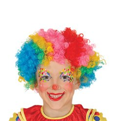 Rainbow Clown Afro Wig - Child