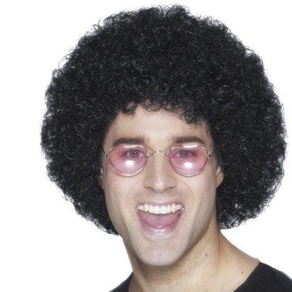 Black Afro Wig - 80's Wigs & Accessories front