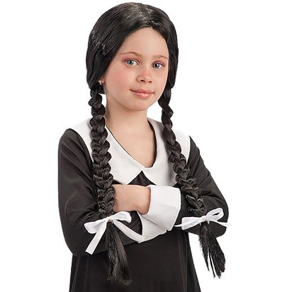 Girl's Scary Sister Wig - Wednesday Addams Halloween Wig front