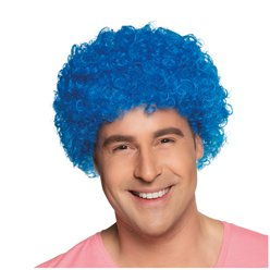 Fancy Dress Accessories Blue Afro Wig