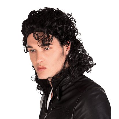 King of Pop Wig - Adult Michael Jackson Fancy Dress Accessory  front