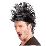 Black Spiky Punk Wig