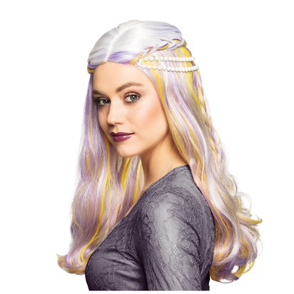 Pastel Pearl Wig - Adult Mermaid Fancy Dress Accessory  front