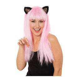Fancy Dress Accessories Pink Cat Wig with Ears