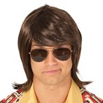 70s Brown Heart Throb Wig