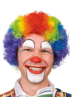 Rainbow Clown Afro Wig