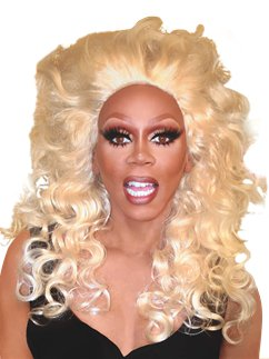 RuPaul Polished Platinum Wig