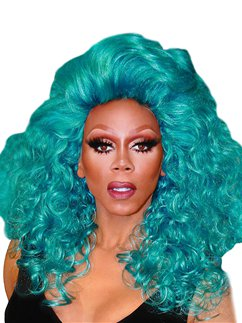 RuPaul Teal The Show Wig