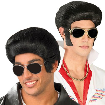 King of Rock and Roll Wig - Elvis Fancy Dress Accessories front