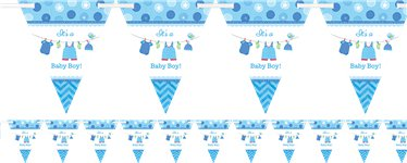 Boy's Shower With Love Flag Banner - 4.5m