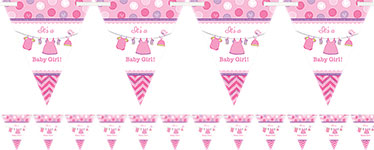 Girl's Shower With Love Flag Banner - 4.5m